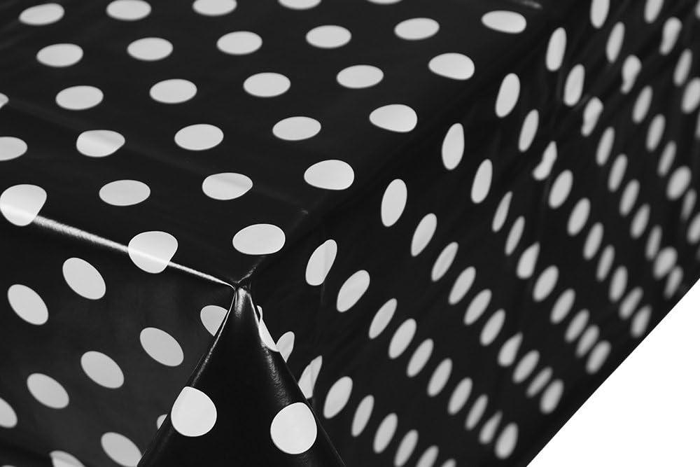 Blu Home Direct Tovaglia in tela cerata plastificata rettangolare 140 x 180cm a pois