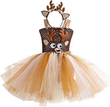 Fossen Kids 2 pc Vestidos Princesa Niña de Malla Hueca + Diadema ...