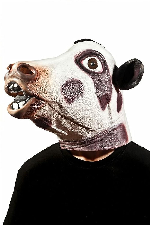 Amazon.com: Morbid Enterprises Cow Head Mask, Black/White, One ...