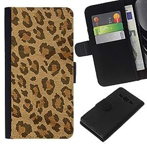 Planetar® Modelo colorido cuero carpeta tirón caso cubierta piel Holster Funda protección Para Samsung Galaxy A3 / SM-A300 ( Spots Piel África Marrón Beige)