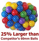 "My Balls Sample Pack of 50 Large 2.5"" 65mm Ball Pit Balls in 5 Bright Colors - Crush-Proof Air-Filled; Phthalate Free; BPA Free; non-Toxic; non-PVC; non-Recycled Plastic (Sample Pack of 50)"