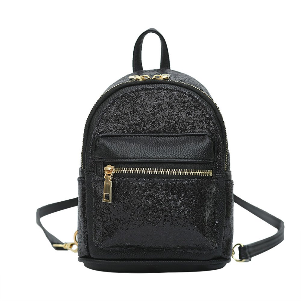 Amazon.com  Girls Cute Sequin Mini Backpack Leather Purse Women Backpack  Leather Cross Body Bag Black  Shoes 7431affae22c1
