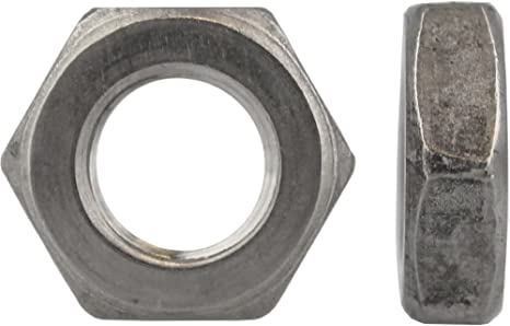 Muttern Flachmuttern 5 St/ück Sechskantmuttern M4 niedrige Form DIN 439 Edelstahl A2