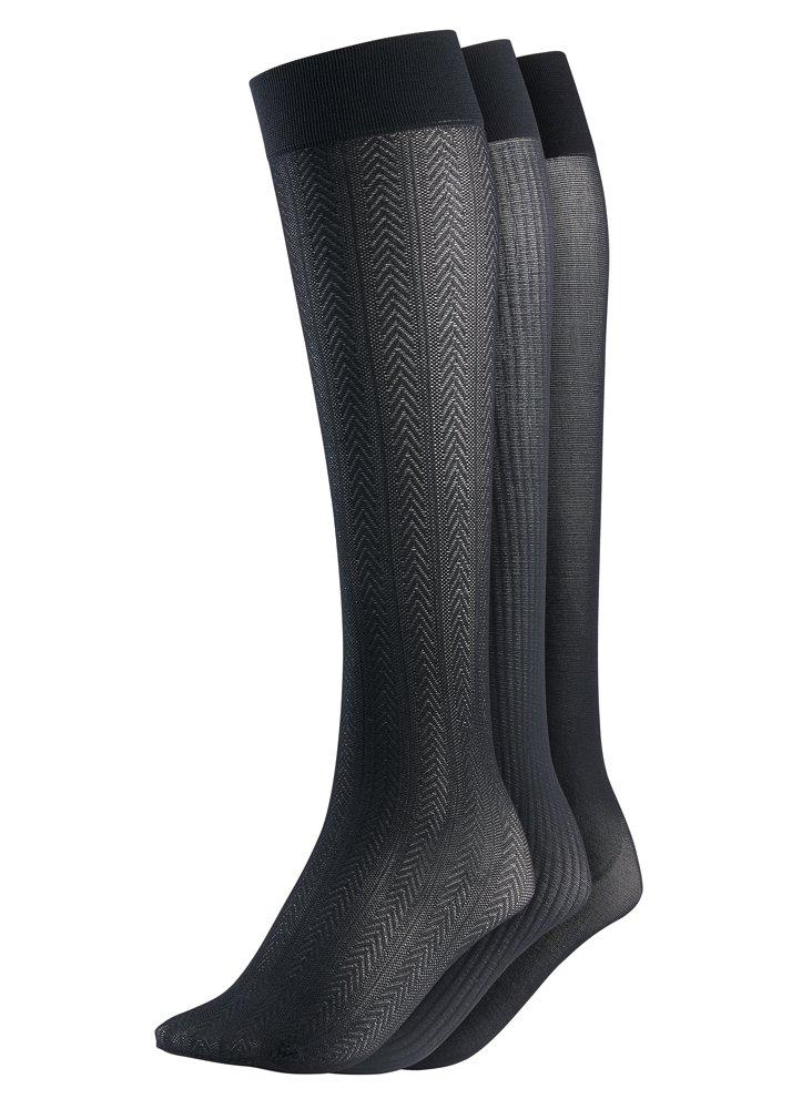 Jockey Women's Socks Textured Trouser Socks - 3 Pack, black, 5-10