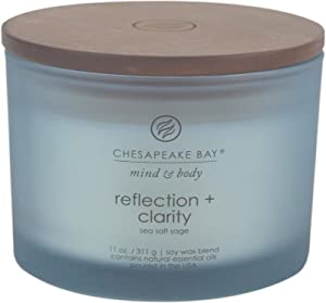 Chesapeake Bay Candle Scented Candle, Reflection + Clarity (Sea Salt Sage), Coffee Table