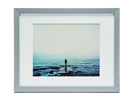 Amazon.com - ZingVic 11x14 Light-grey Wood Picture Frame with ...