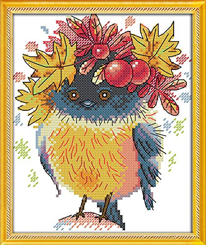 (Joy Sunday Cross Stitch Kits 11CT Stamped Autumn Bird 8.66