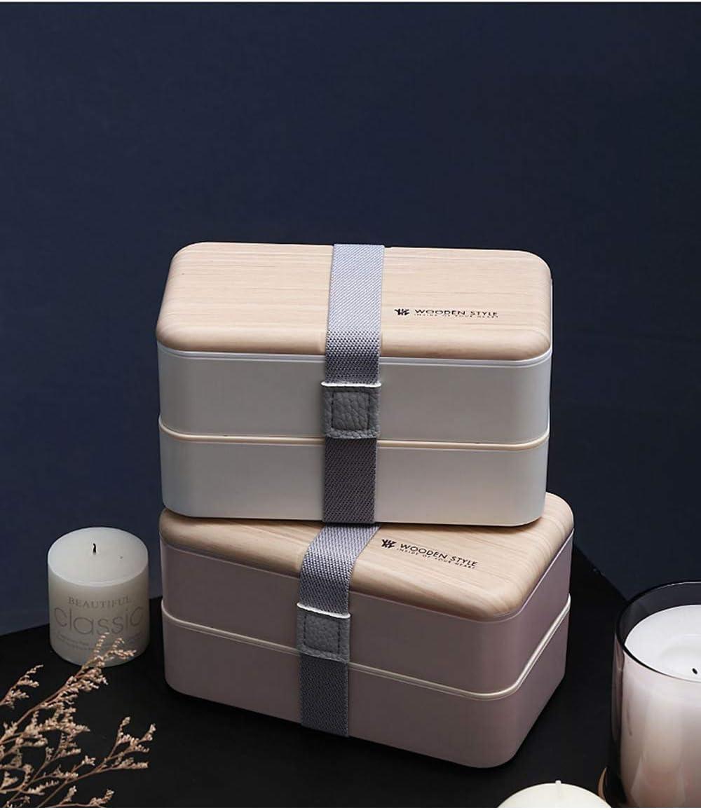 Scatole bento a 2 Livelli Lunch Box Stile Giapponese con Posate SPDYCESS Porta Pranzo Scatola per Il Pranzo a Prova di perdite per Bambini o Adulti