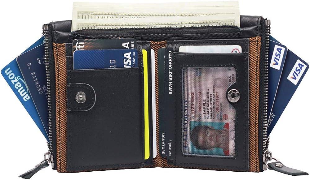 Amazon.com: Billetera para hombre con bloqueo RFID, de piel ...