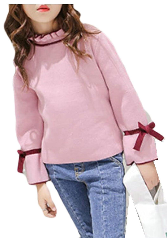 Alion Little Girl Autumn Cotton Slim Fit Knit Sweater