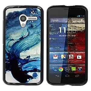 All Phone Most Case / Hard PC Metal piece Shell Slim Cover Protective Case Carcasa Funda Caso de protección para Motorola Moto X 1 1st GEN I XT1058 XT1053 XT1052 XT1056 XT1060 XT1055 Wave Sea Ocean Blue Art Paint