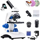 Vanstarry Beginners Microscope Kit 40X-1000X for Kids & Students, Dual LED Lights and Cordless Capability, Illumination Lab C