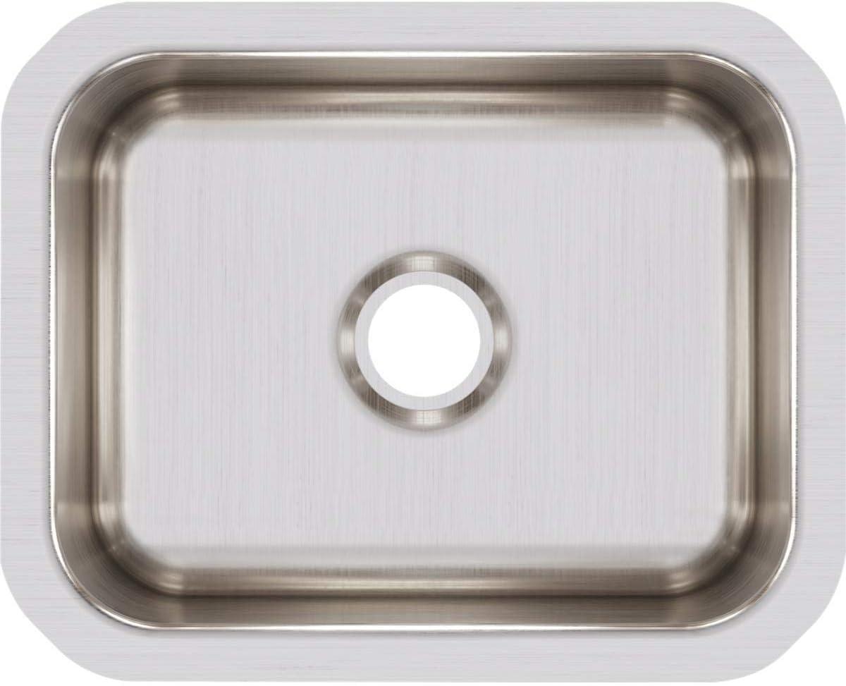 Elkay Lustertone ELUH129 Single Bowl Undermount Stainless Steel Bar Sink