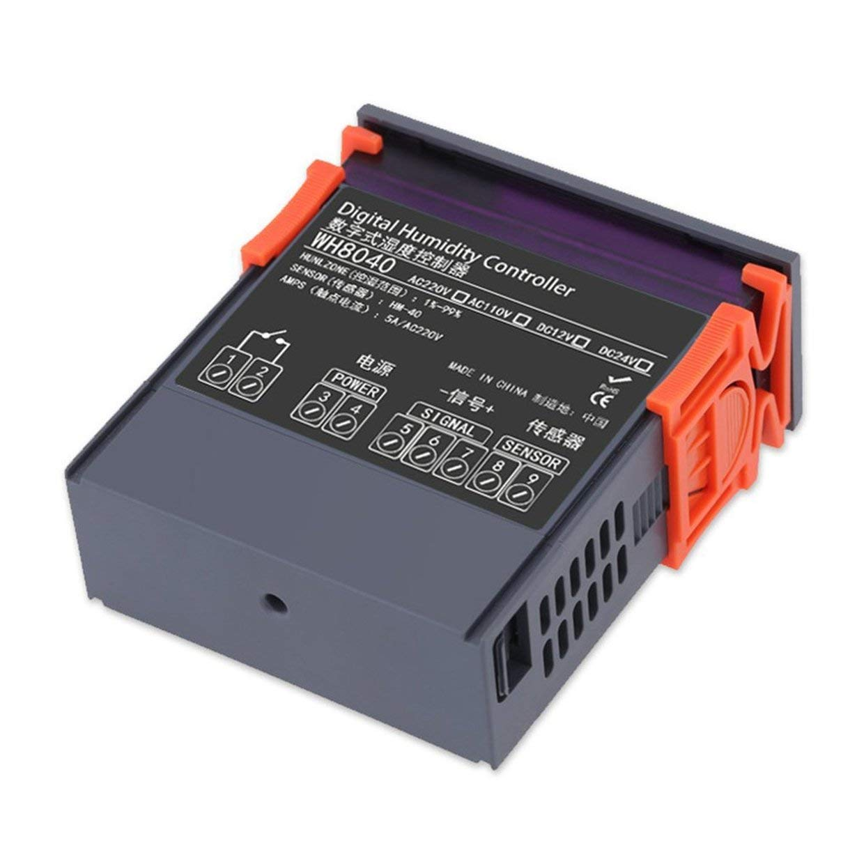 Controlador de humedad digital, compacto y ligero LED Termostato digital Controlador de humedad y temperatura Medidor de alta precisión para la humedad del ...