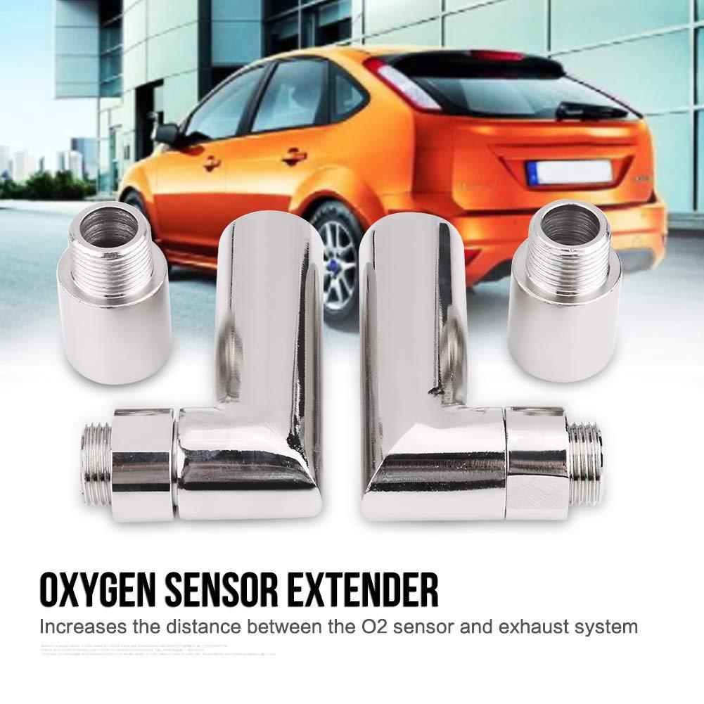 Extensor del sensor de ox/ígeno Adaptador de extensi/ón en /ángulo de 90 grados 4 piezas Extensor de sensor de ox/ígeno M18 /× 1.5