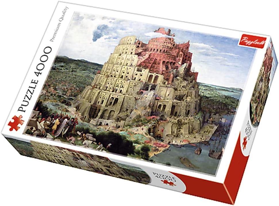 4000個大人の子供のための大規模なジグソーパズル、バベルの塔、カラフルIQゲーム知能教育玩具、DIYホームデコレーション、136x96cm