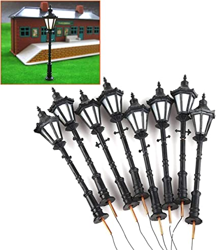 10Pcs Plastic Model Tree Railroad Building Street Park Scene Scale HO 1:75
