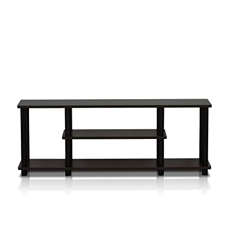 Review Furinno 12250R1WN/BK Turn-N-Tube No Tools 3D 3-Tier Entertainment TV Stands, Walnut