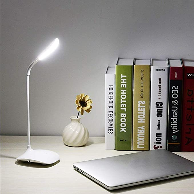 R N Creation Surat Rechargeable LED Touch On/Off Switch Desk Lamp Children Eye Protection Student Study Reading Dimmer Rechargeable Led Table Lamps USB Charging Touch Dimmer