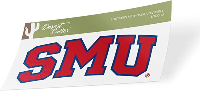 Southern Methodist University SMU Mustangs NCAA Vinyl Decal Laptop Water Bottle Car Scrapbook (Sticker - 4)