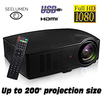 Seelumen PJW100 - Proyector) Full HD 1080P, 3200 Lúmenes, LED, LCD ...