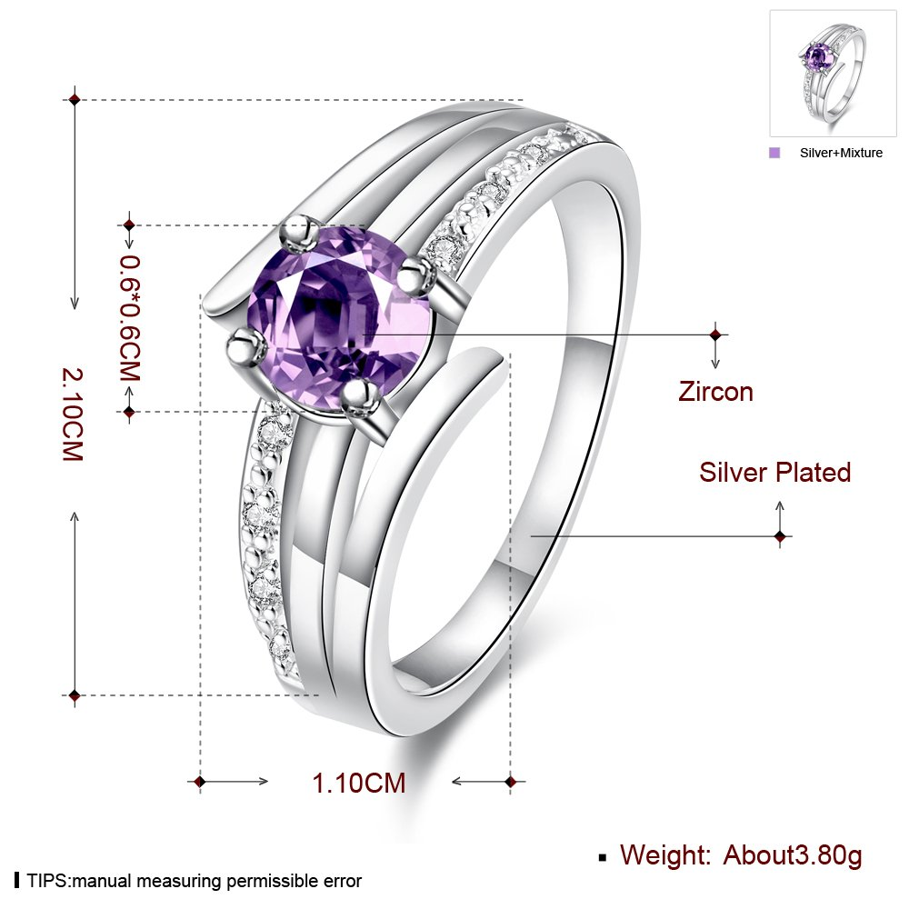 New Hot Crystal Royal Blue CZ Diamond #8 Brass Ring Silver-Plated Fashion Jewelry for Women Girl Party//Wedding//Banquet//Daily Constructan TM
