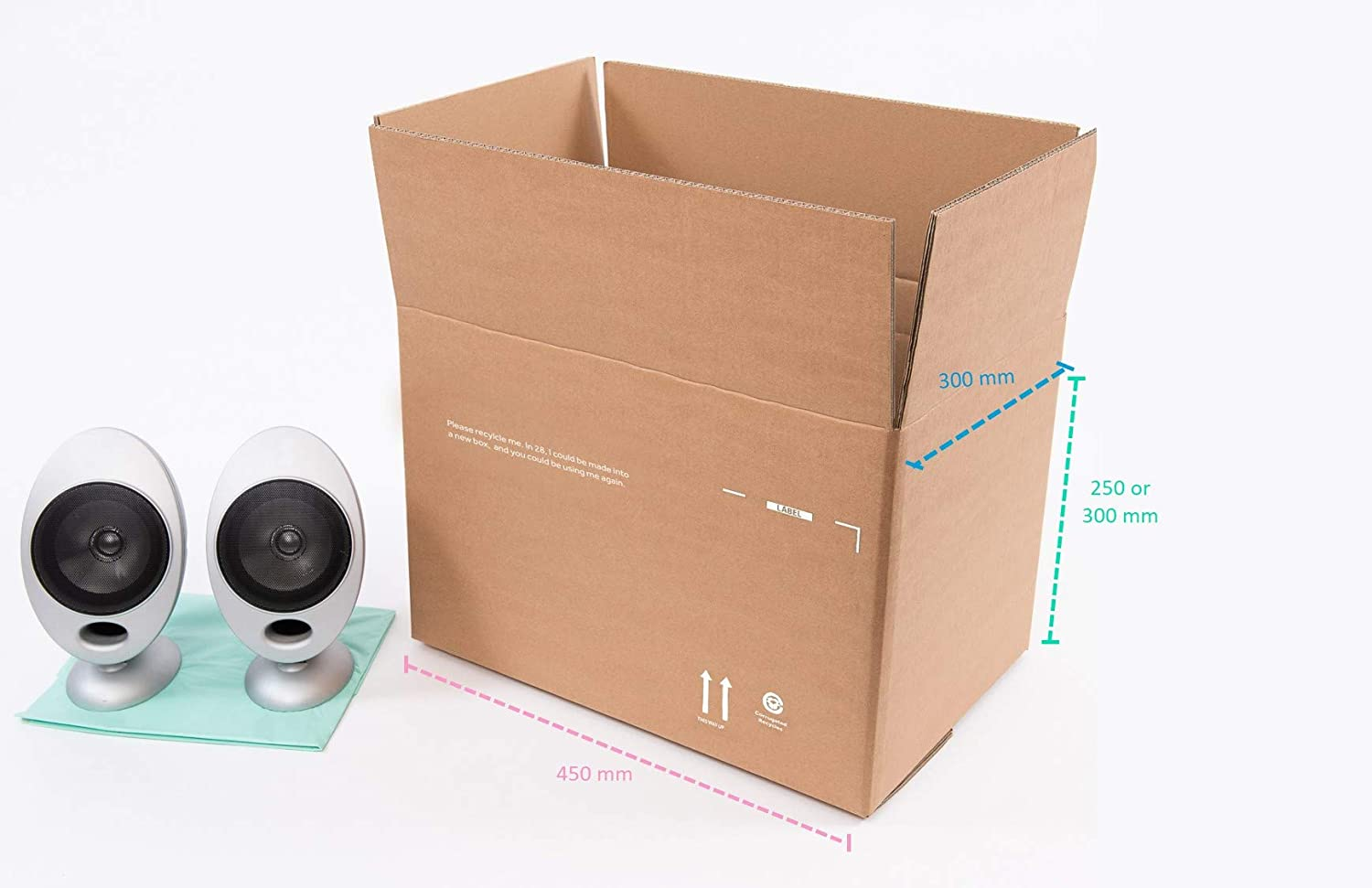 Medium Cardboard Box - Strong Double Wall & Variable Height (pack of 10) Smurfit Kappa PSM2BC