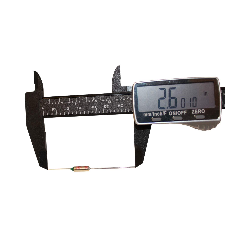CompStudio 5Pcs 200C Celsius Circuit Cut Off Temperature Micro Thermal Fuse 10A 250V