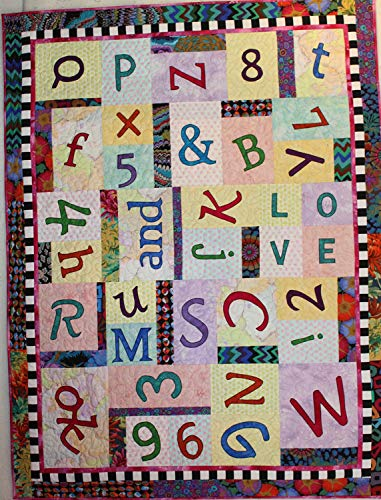 (BJ Designs Quilt Pattern - Alphabet & Numbers Soup, Revised (44