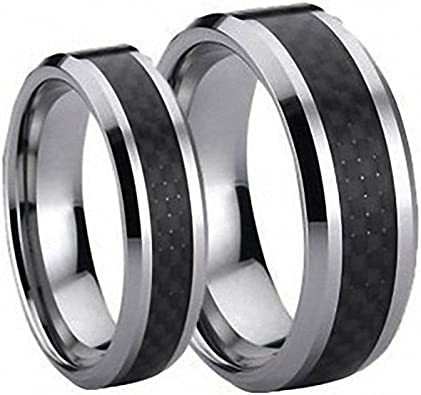 Tungsten Ring Set Black_set_carbon_set product image 8