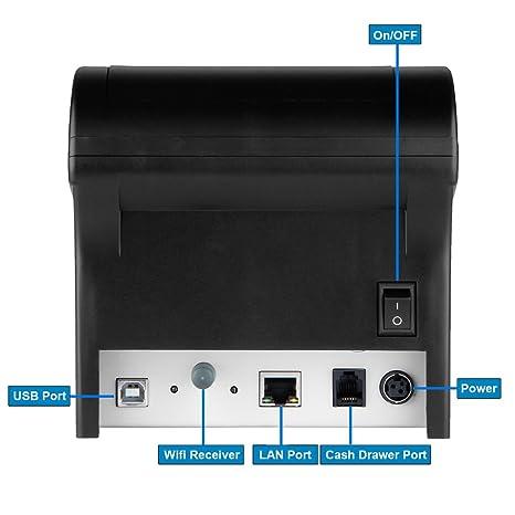 FLOUREON ZJ-8220 - Impresora Térmica de Recibos y Billetes ...