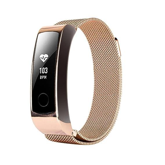 Zolimx Banda de Acero Inoxidable Correa Milanesa de Bucle Magnético Para Huawei Honor 3 Pulsera Reloj