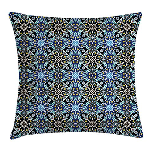 Ambesonne Moroccan Throw Pillow Cushion Cover, Bohemian East
