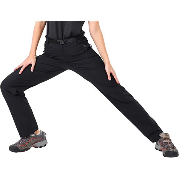 7 Pockets Lightweight and Water Resistant MIER Mens Stretch Hiking Pants Quick Dry Outdoor Cargo Pants