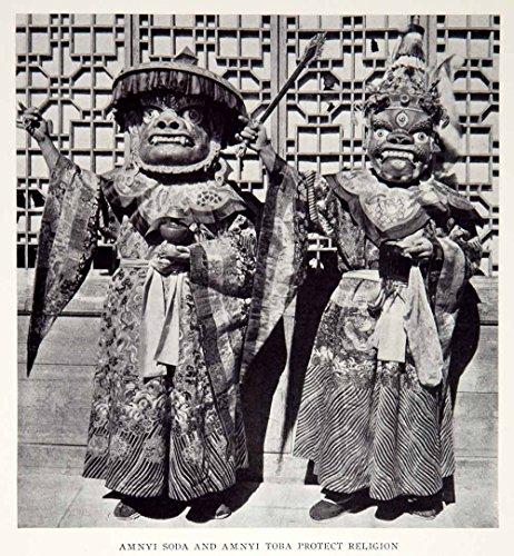 1928 Print Amnyi Soda Traditional Chinese Costume Fashion Historical Image NGMA2 - Original Halftone (Chinese Costumes Images)