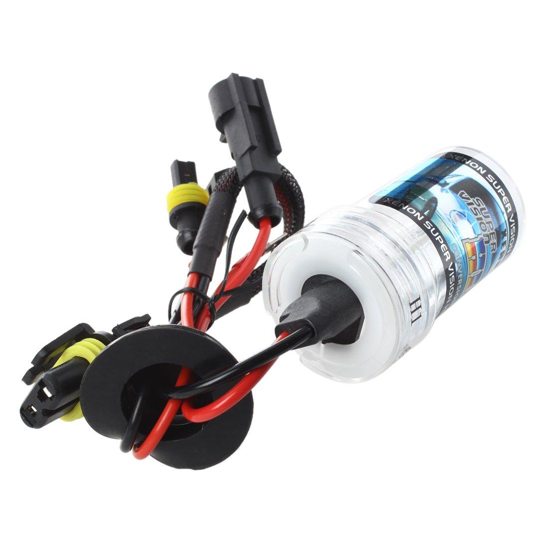 2 X Auto H1 Xenon HID luce bianca anteriore faro lampadina 35W 6000K SODIAL R