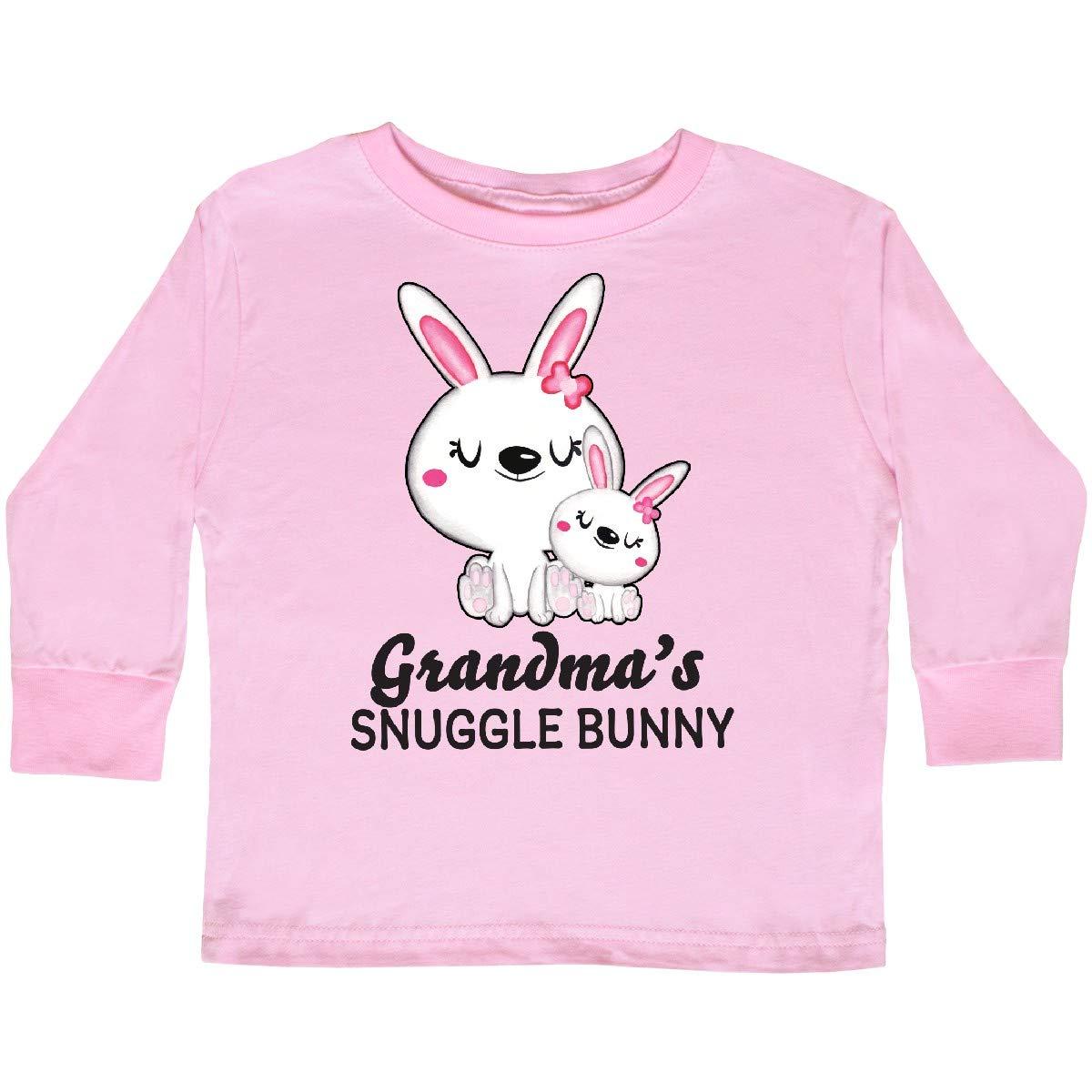 inktastic Grandmas Snuggle Bunny Easter Toddler Long Sleeve T-Shirt
