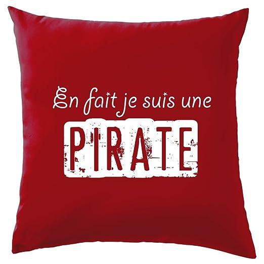 En hecho je suis una pirata - cojín - 10 Color, 100% algodón ...