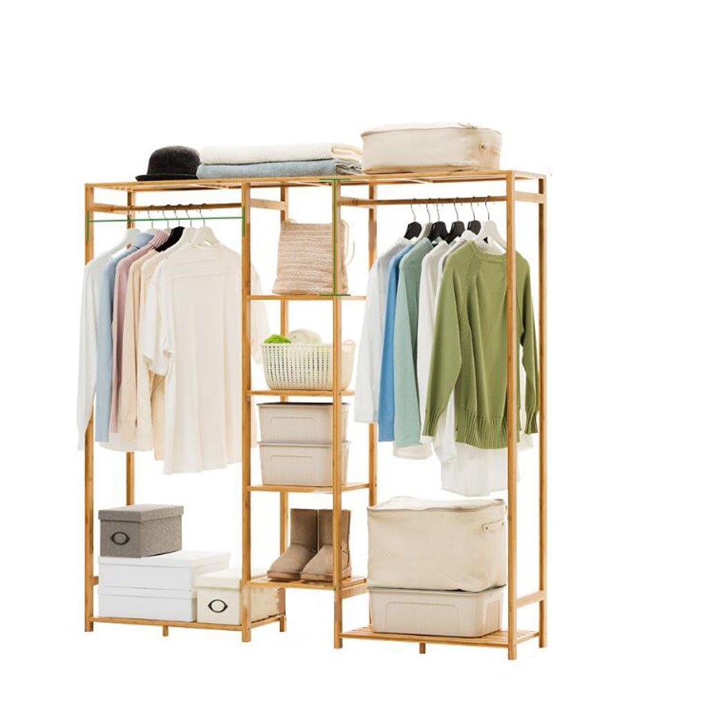 E Coat rack Simple coat rack Solid Wood Bedroom Hanger Floor Hanger Storage Rack Simple Modern Clothes Rack (color   D)