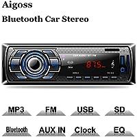 $25 Get Aigoss Bluetooth Car Stereo, 4x60W Digital Media Receiver with Remote Control, Car…