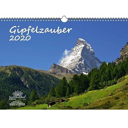 Gipfelzauber - Calendario 2020, diseño de montañas y cumbres, DIN ...