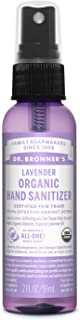 product image for Dr. Bronner's - Organic Hand Sanitizer Spray (Lavender, 2 Ounce) - Simple and Effective Formula, Kills Germs and Bacteria, No Harsh Chemicals, Moisturizes and Cleans Hands
