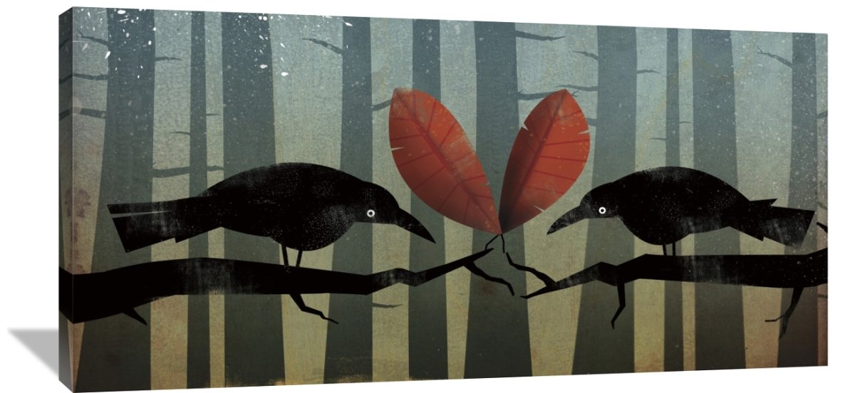Global Gallery Ryan Fowler, Love Birds' Stretched Canvas Artwork, 48 x 24