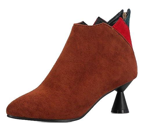 Easemax Femme Mignon Fermeture à Glissière Chaussure Montante Employée  Bottines  Amazon.fr  Chaussures et Sacs 882cf7bb050b