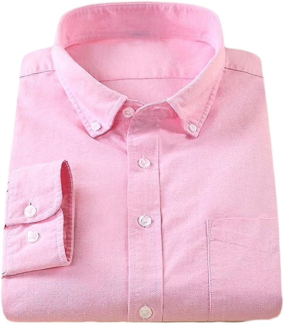 VSKA - Camisa Vaquera de algodón para Hombre, Color Rosa, Talla M: Amazon.es: Ropa y accesorios