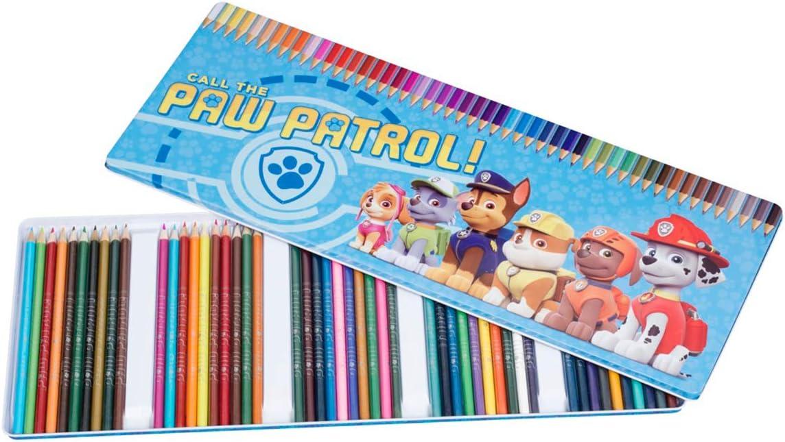Crayons de couleurs Mega Box de 50 pi/èces Pat patrouille
