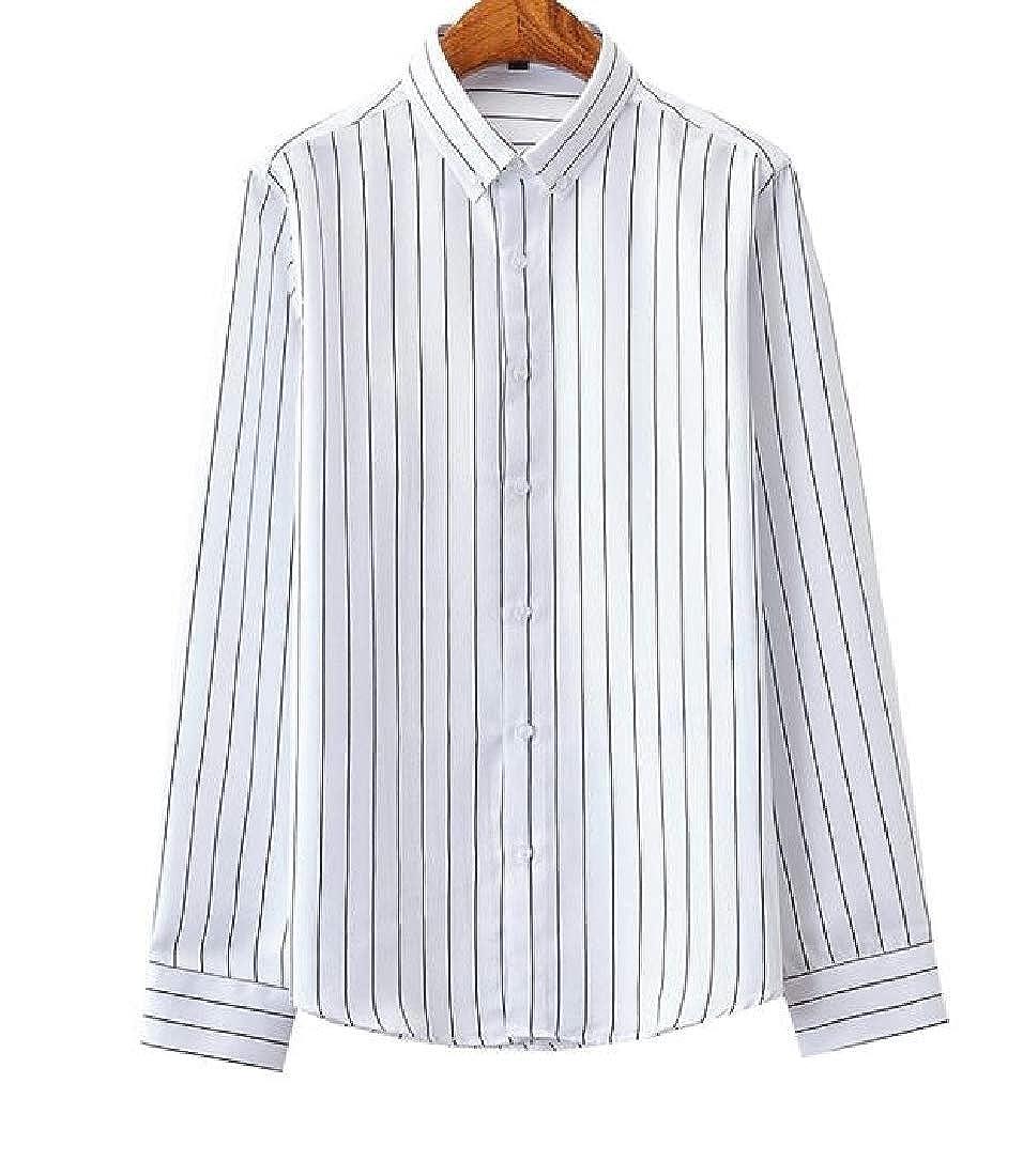 Losait Mens Fit Shirts Dress Business Formal Longshirt