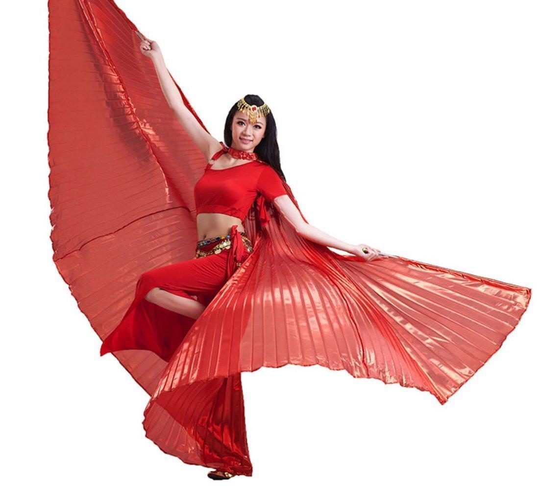 Calcifer Egyptien Danse du Ventre Ailes dange Isis avec 2 b/âtons t/élescopiques