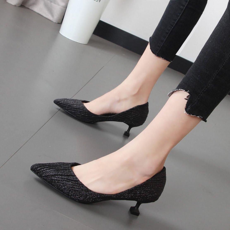 Xue Qiqi Frauen Schuhe mode Tipp dünne und leichte leichte leichte mit Schuhen in der Champagner Farbe einzelne Schuhe Tide 6b9b32