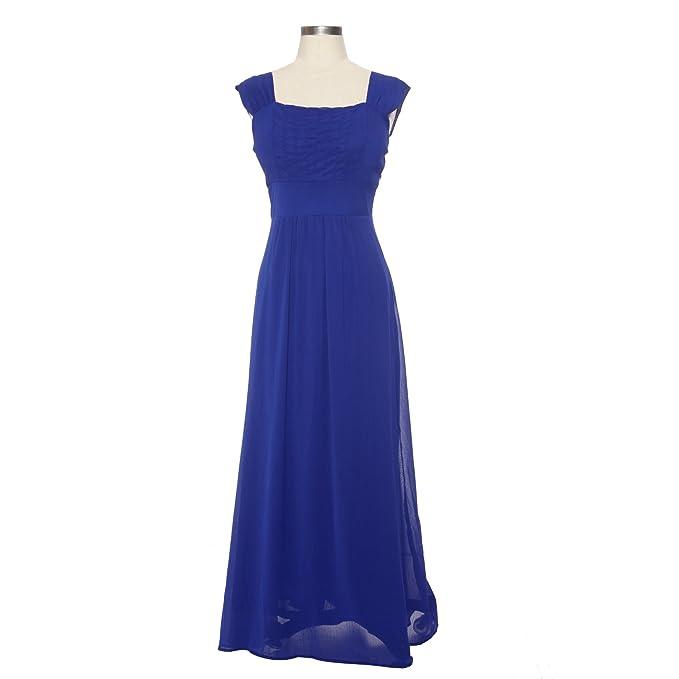 Maboobie - Vestido para damas de honor de boda Vestido largo del Chifón para Fiesta de noche graduacion Damas Madrina (Azul rey (L)): Amazon.es: Hogar